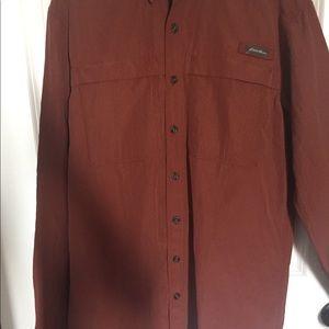 Men's Eddie Bauer button up / golf shirt 🚩